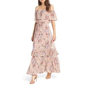 Love, fire • Floral maxi Dress